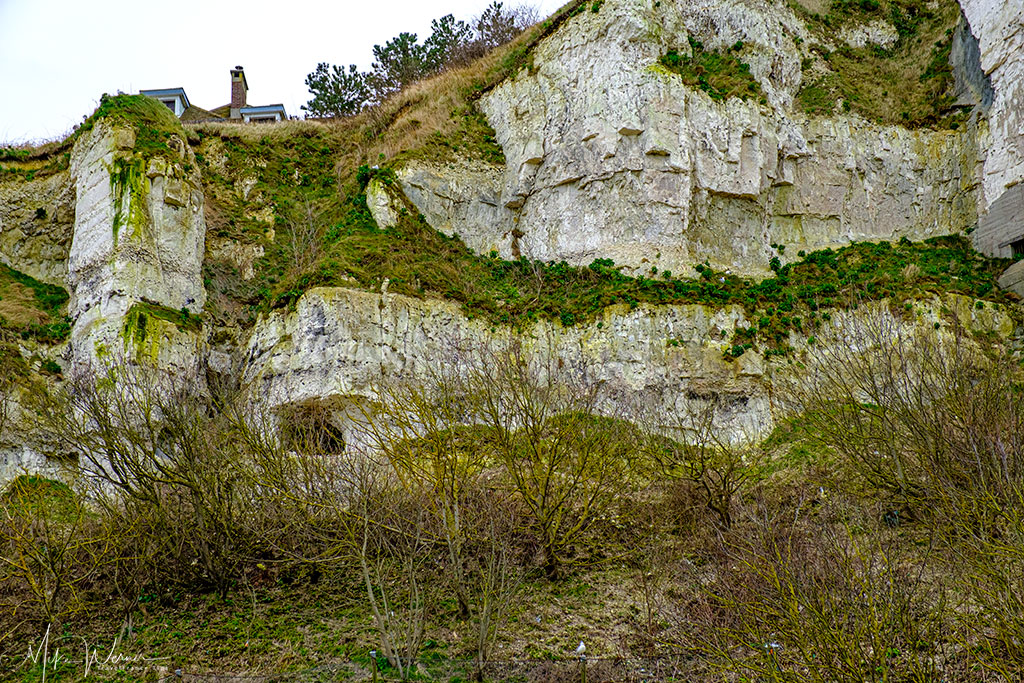 Cliffs with caves (and bunkers) at Le Treport
