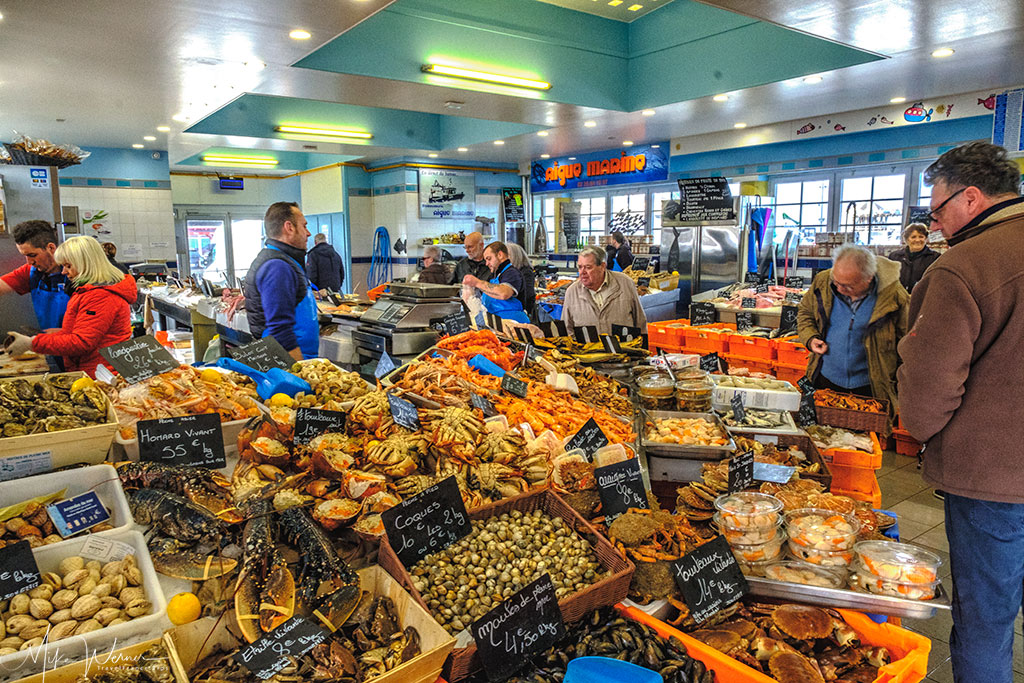 Fish market of Le Treport