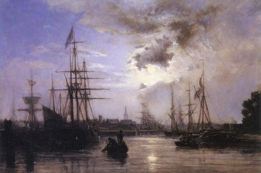 1859 Stanislas Lepine - Caen,-Amorce du Bassin Saint-Pierre-and-the-Abbaye-aux-Dames
