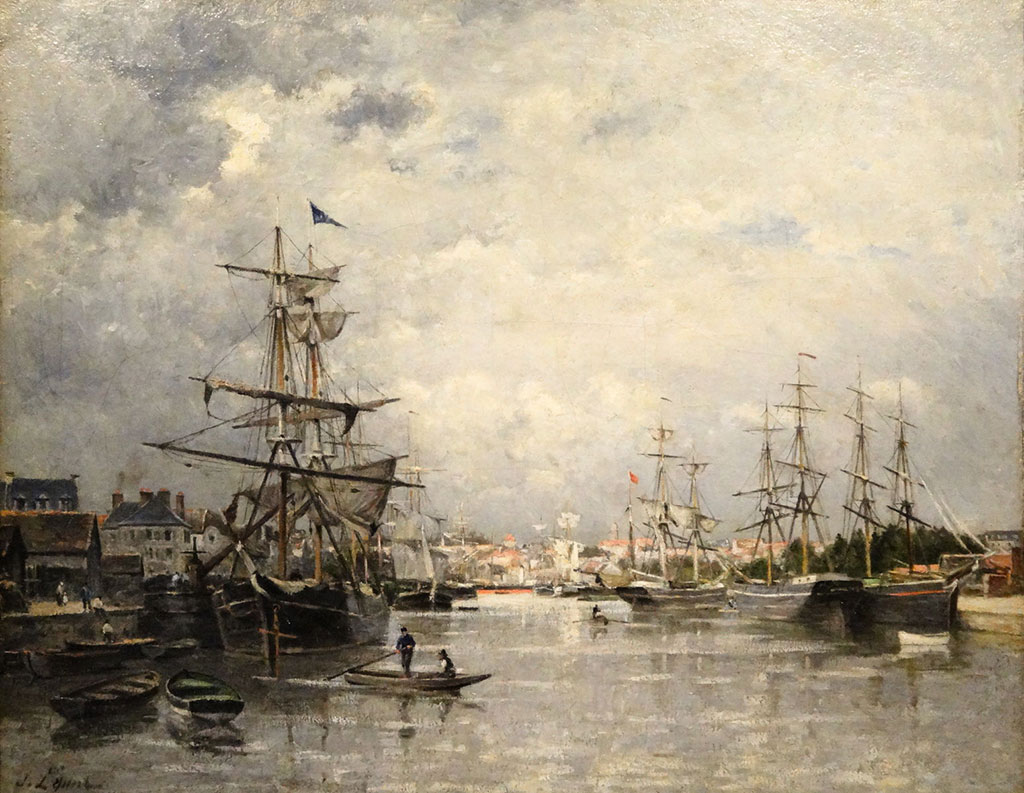 1859 Stanislas Lepine - The harbour of Caen