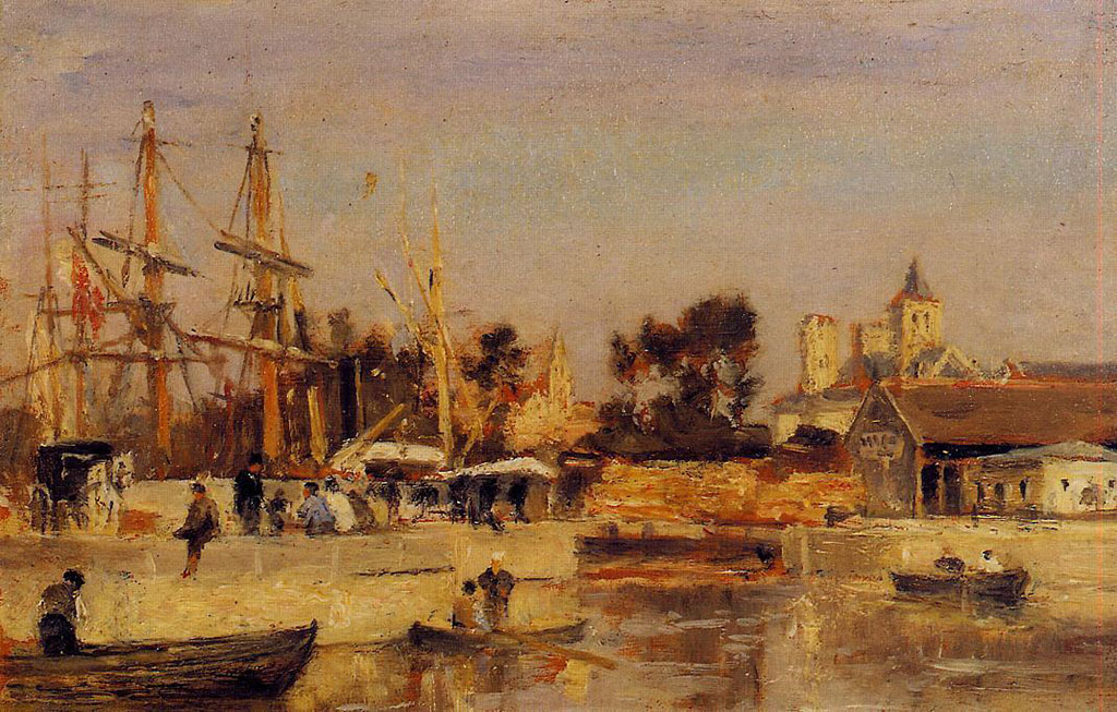 ???? Stanislas Lepine - A Corner of the Port, Caen
