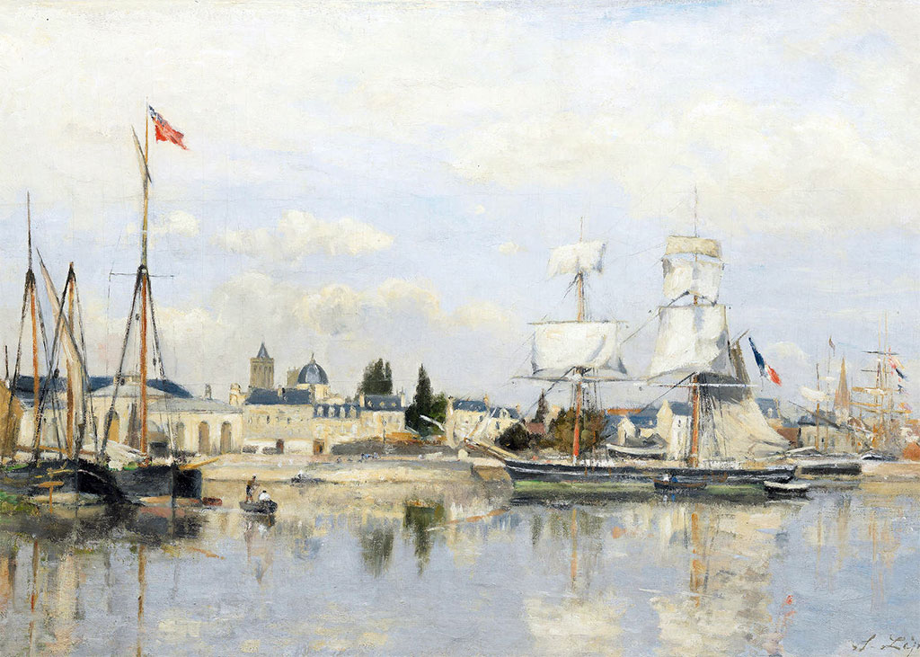 ???? - Stanislas Lepine  - The basin of St-Pierre in Caen. Right bank