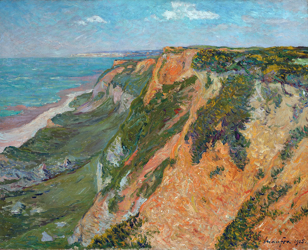 1905 - Maxime Maufra - The red cliffs of Octeville, Seine Inferieure