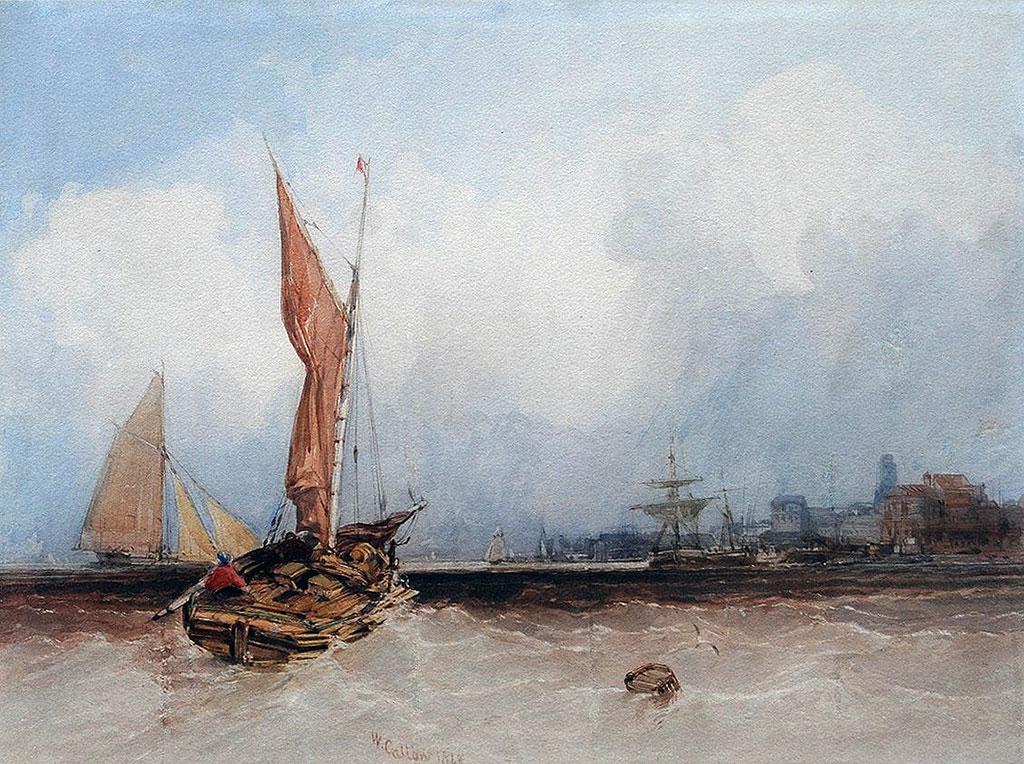 1848 William Callow - Le Havre