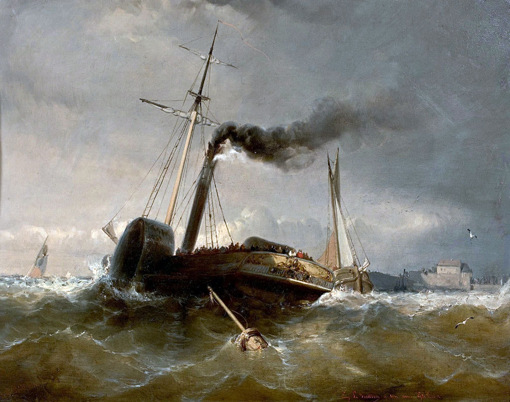 ???? - Eugene Lepoittevin - Steamboat at Le Havre