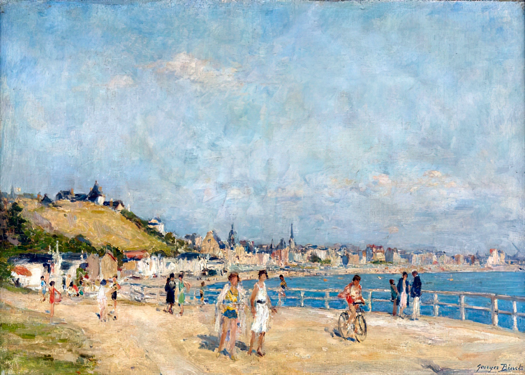 ???? - George Binet - On the Promenade, Le Havre