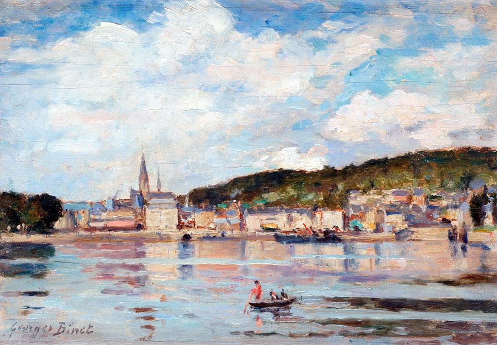 ???? - George Binet - The Seine at Caudebec