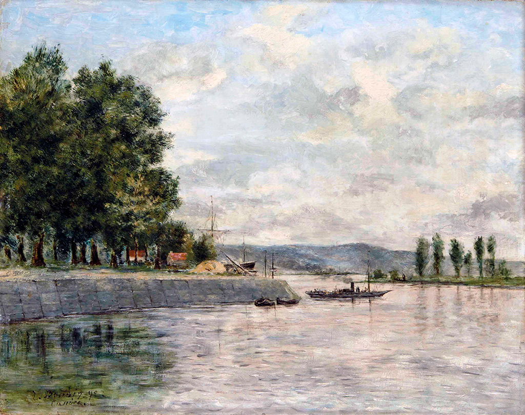 1892 - Eugene Louis Boudin - Caudebec-en-Caux, Banks of the Seine