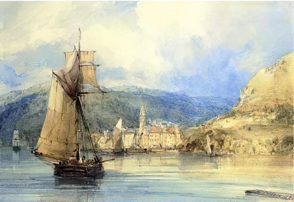 1833 - William Callow - Caudebec-en-Caux, Normandy