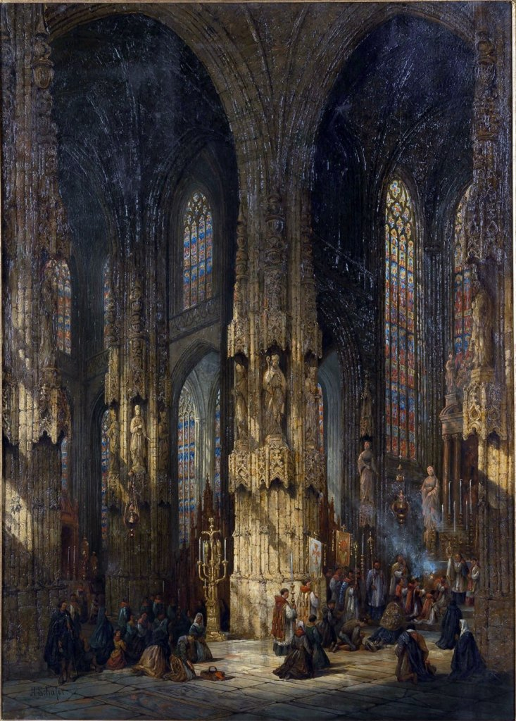 ???? - Henry Thomas Schafer - Interior of the Cathedral, Caen