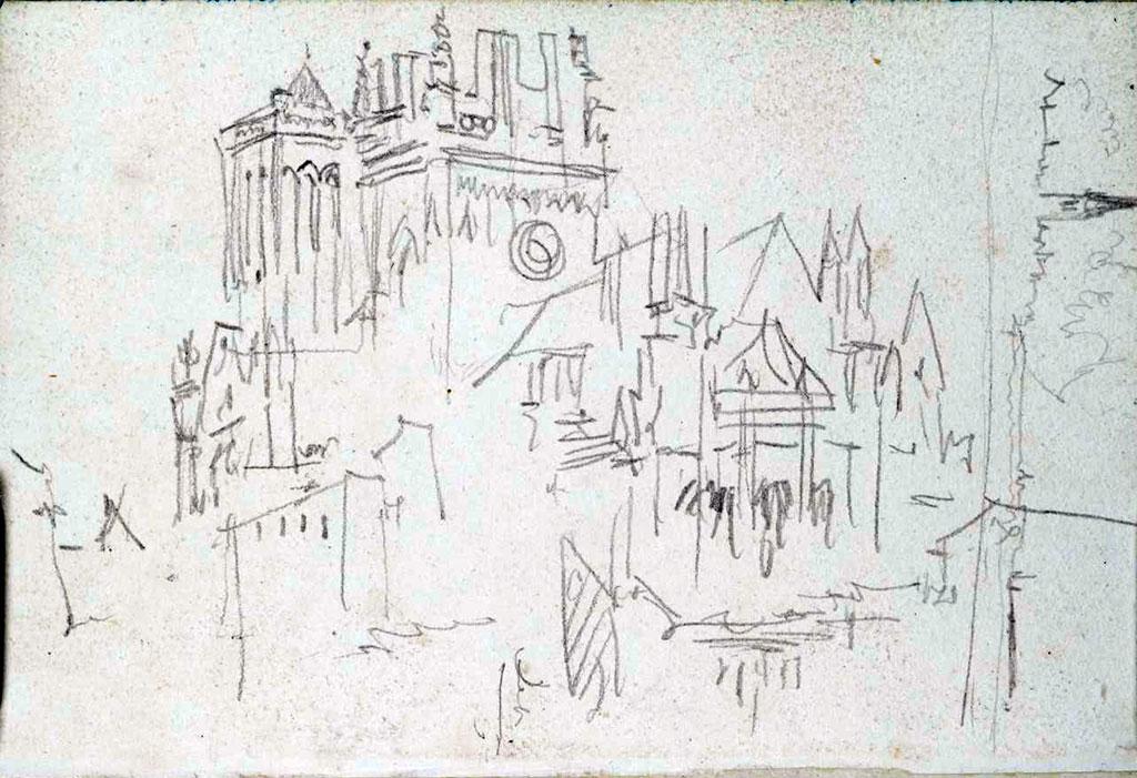 1797 - William Turner - Caen Saint-Jean Church