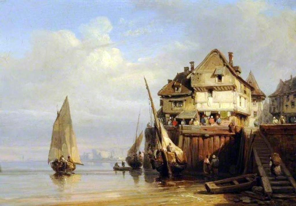 ???? - Richard Parkes Bonington - Old Cherbourg