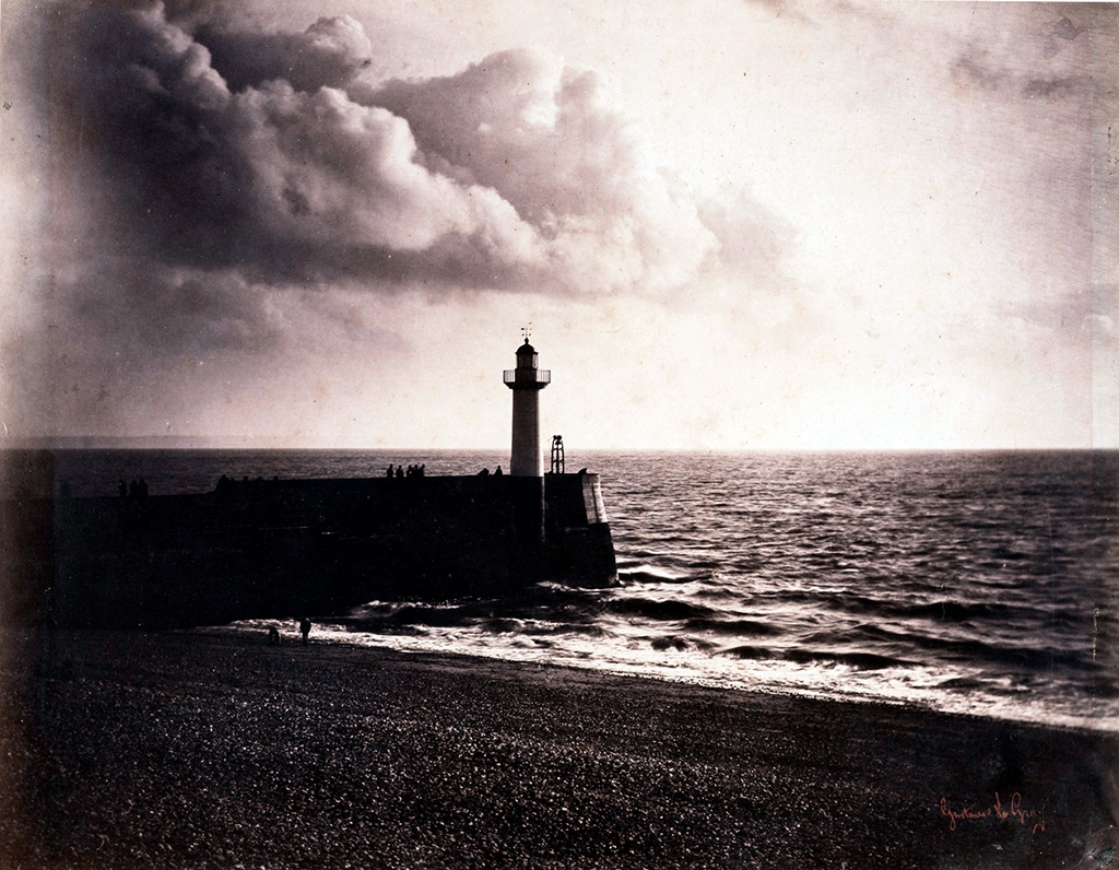 1856 - Gustave Le Gray - Le Havre Lighthouse and Jetty
