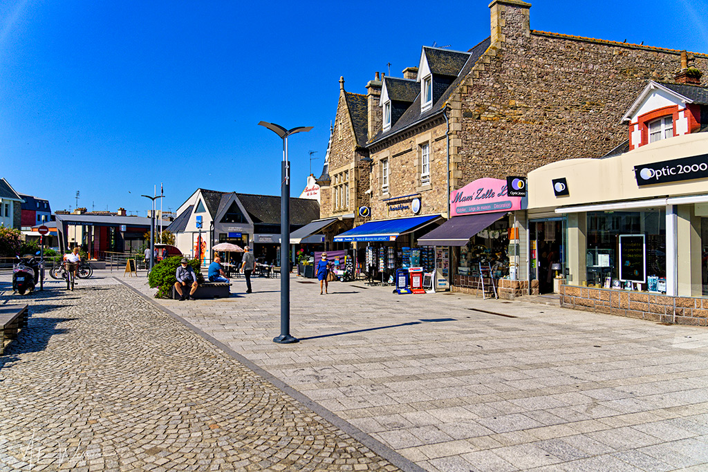 Square close to the Paimpol harbour