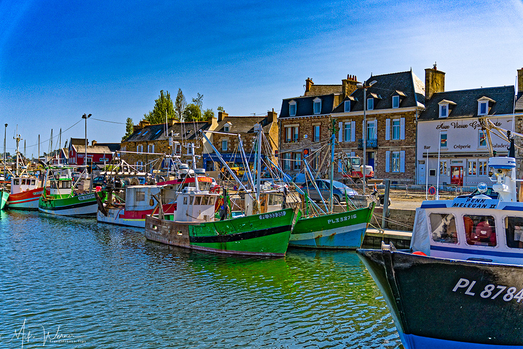 Active fishing fleet in the harbour of Paimpol