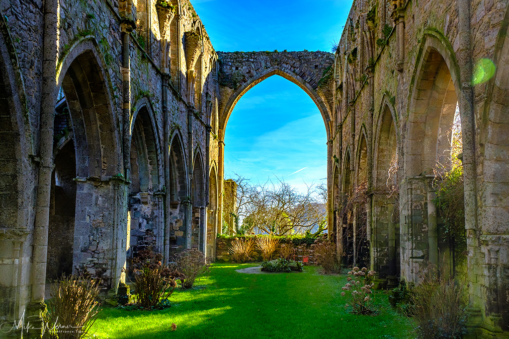Ruins of the Beauport Abbey in Paimpol, Brittany