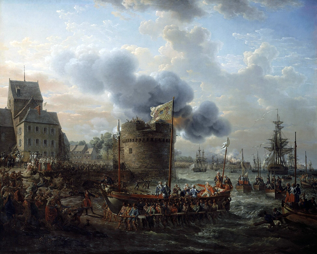 1817 - Louis Philippe Crepin - Louis XVI Visiting the Port of Cherbourg in 1786