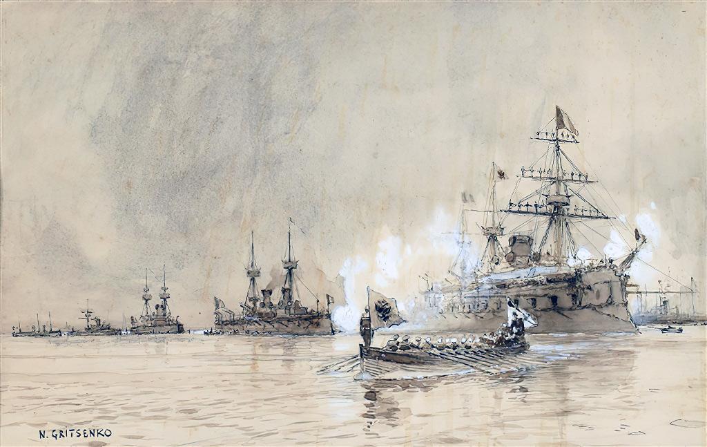 1896 - Gritsenko - Russian Fleet Cherbourg