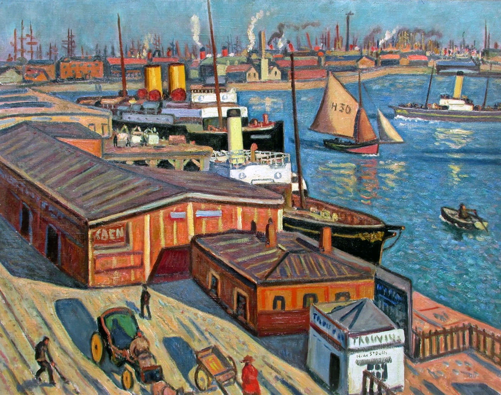 ???? Henri de Saint-Delis - The animated harbour of Le Havre