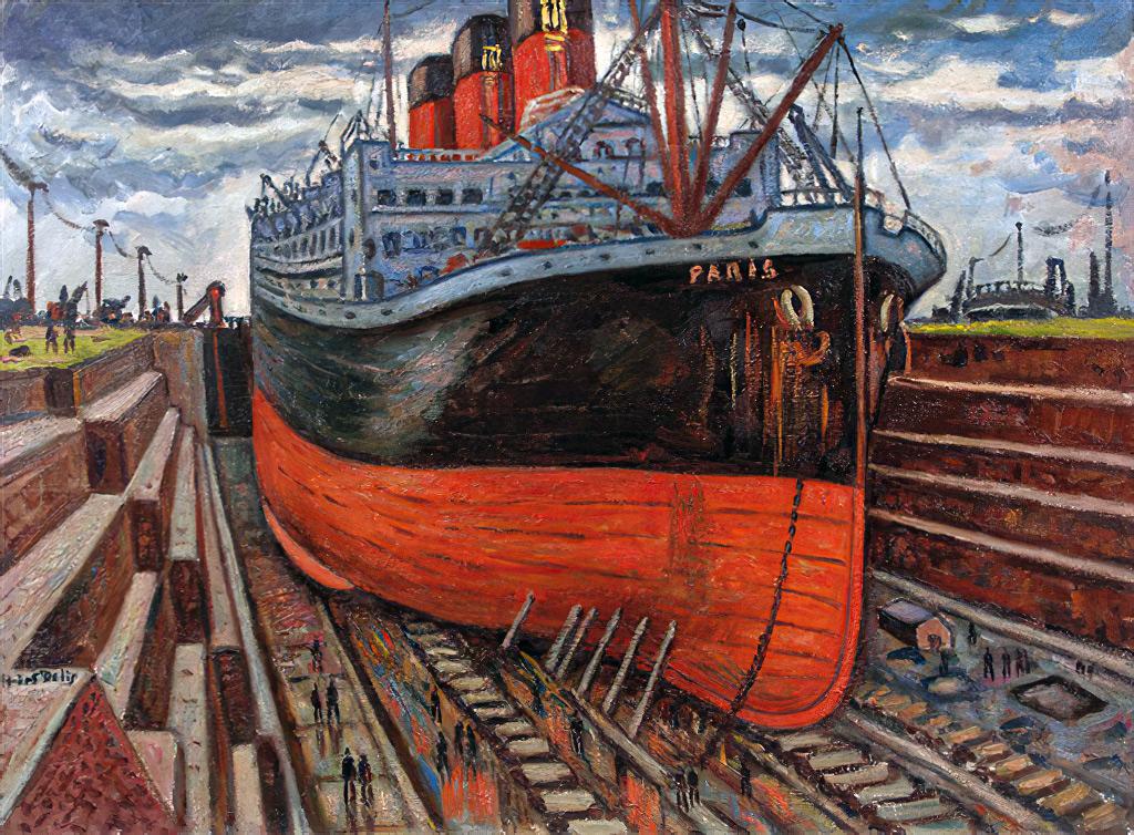 ???? Henri de Saint-Delis - The ocean liner Paris at Le Havre