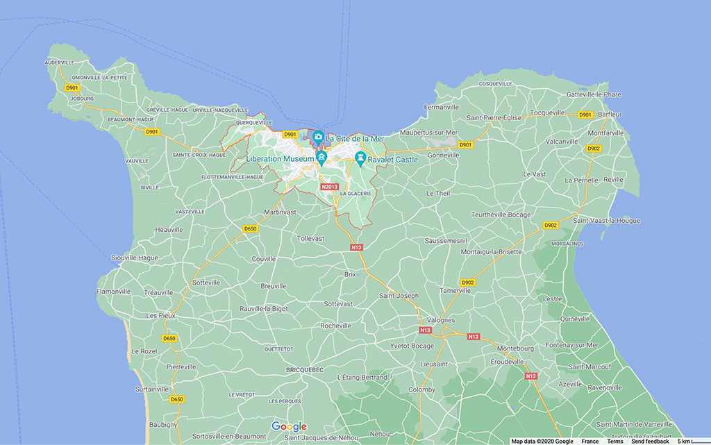 Cherbourg – The Artists – Overview and Map