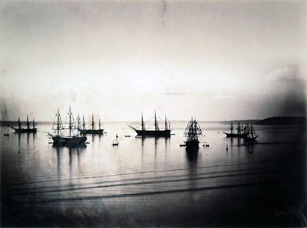 1858 - Le Gary - French fleet in Cherbourg harbor