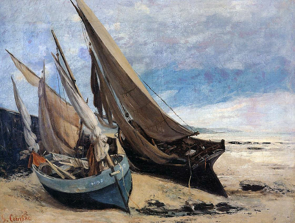 ???? - Gustave Courbet - Fishing Boats On The Deauville Beach