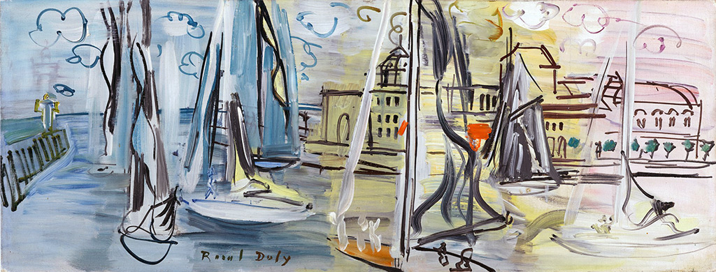 1927 - Raoul Dufy - The Yachts Basin at Deauville