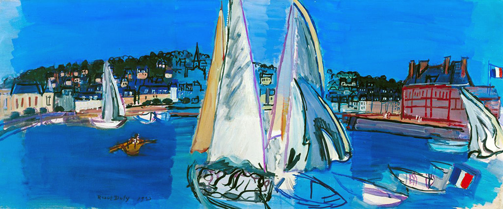 1933 - Raoul Dufy - Deauville, Drying the Sails