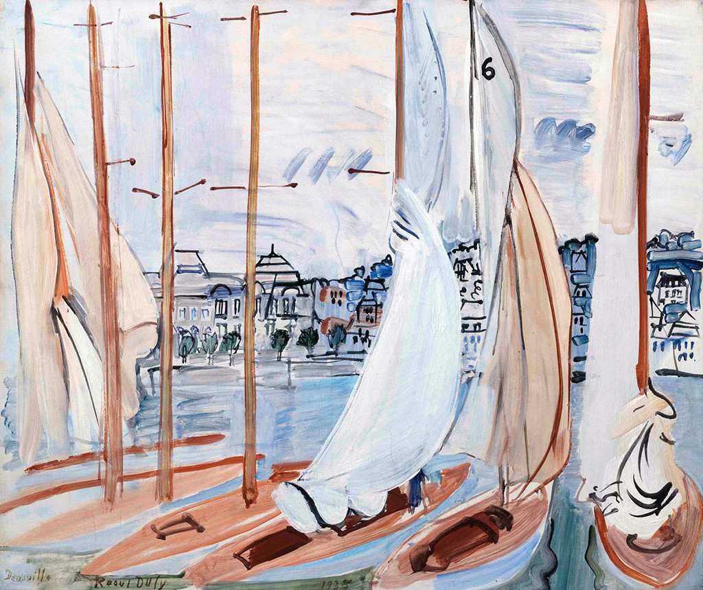1935- Raoul Dufy - Drying the Sails