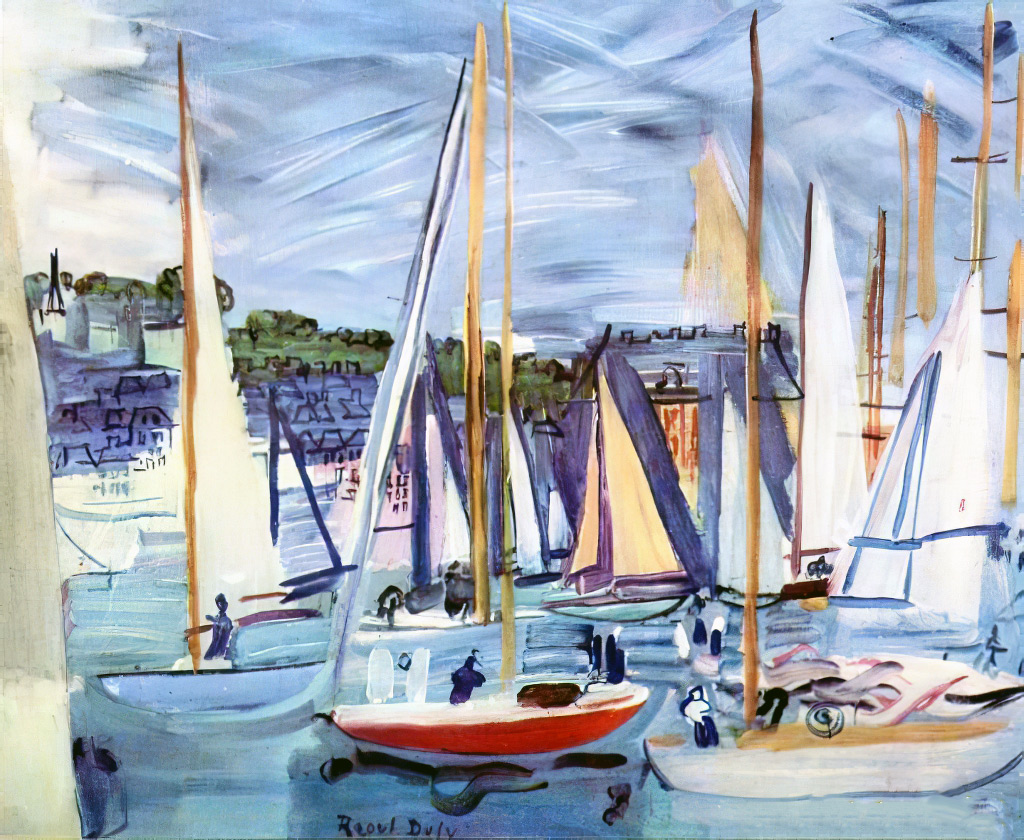 1935- Raoul Dufy - The Basin of Deauville