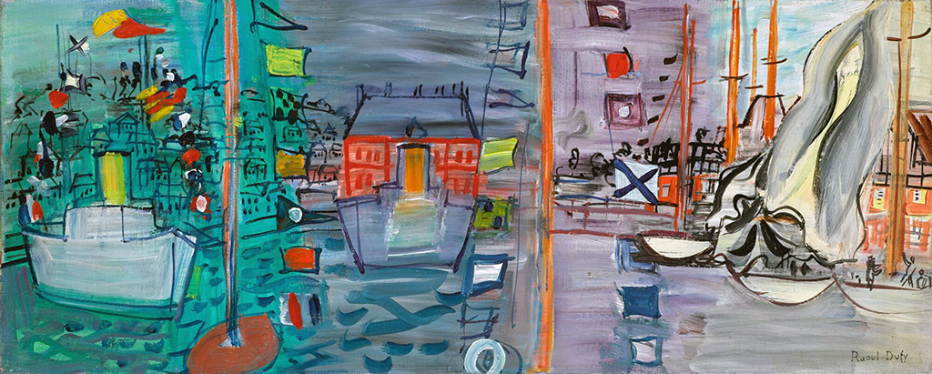 1937- Raoul Dufy - Race to Deauville, Decked Yachts