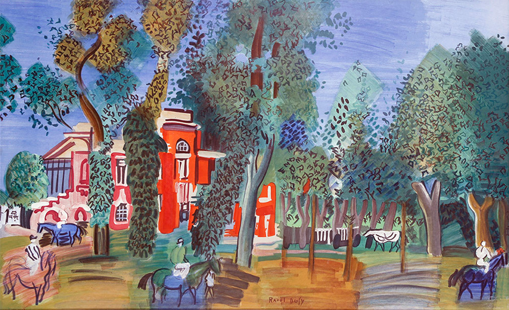 ????- Raoul Dufy - The Paddock at Deauville
