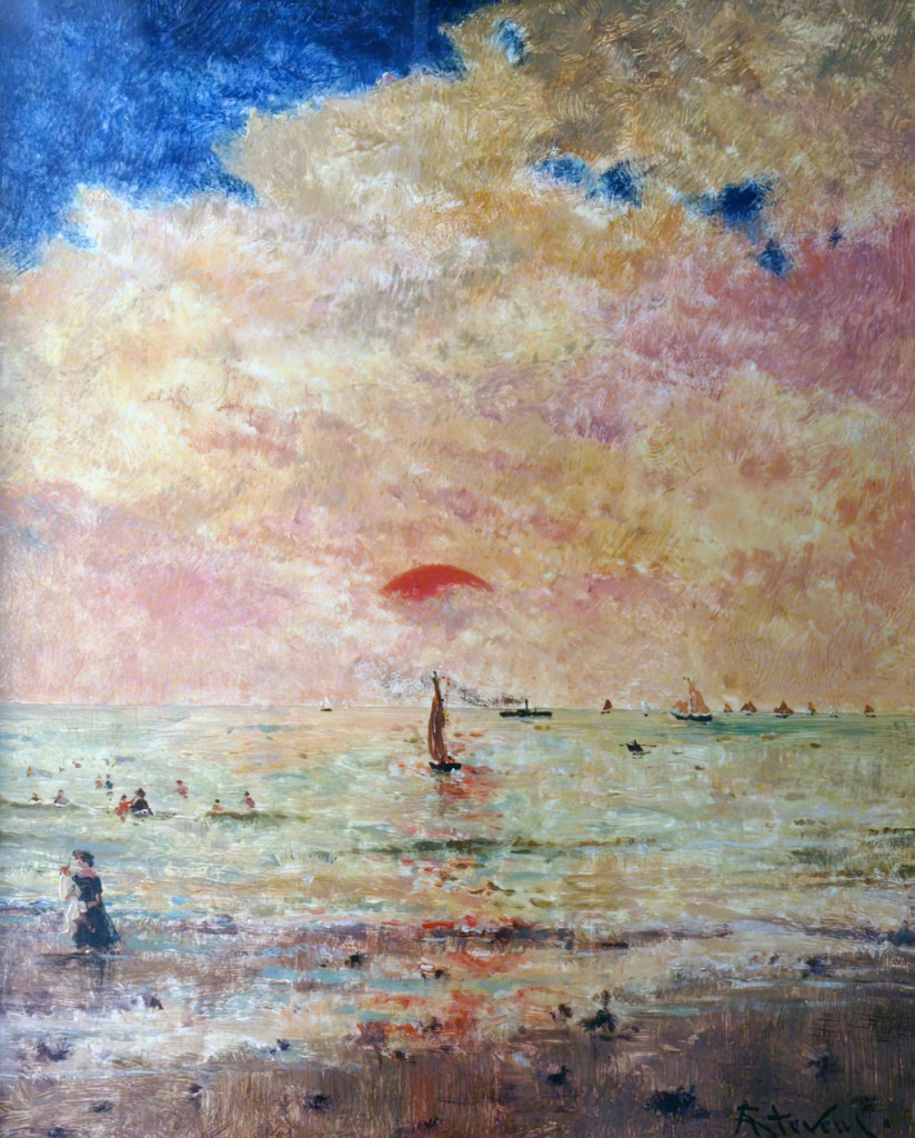 ???? - Alfred Stevens - Off the Coast of Deauville