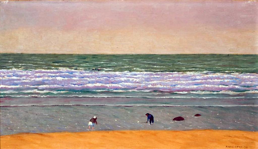 1924 - Felix Vallotton - Deauville beach in high winds