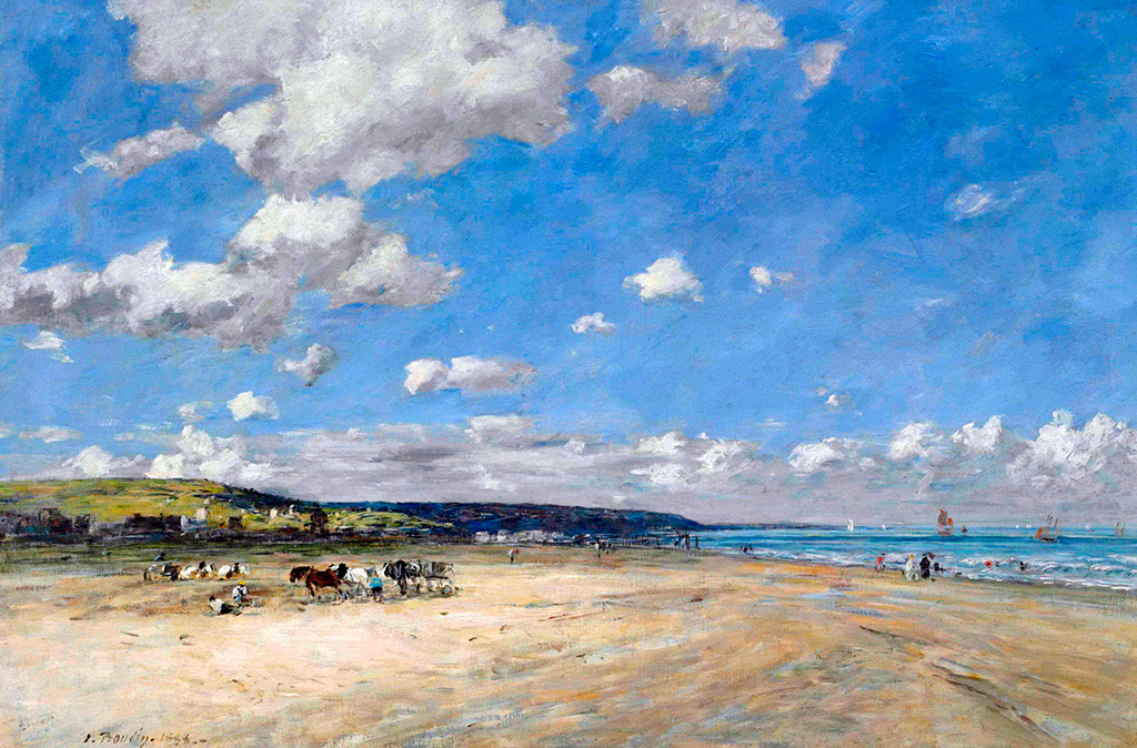 1888 - Eugene Louis Boudin - The Beach of Tourgeville