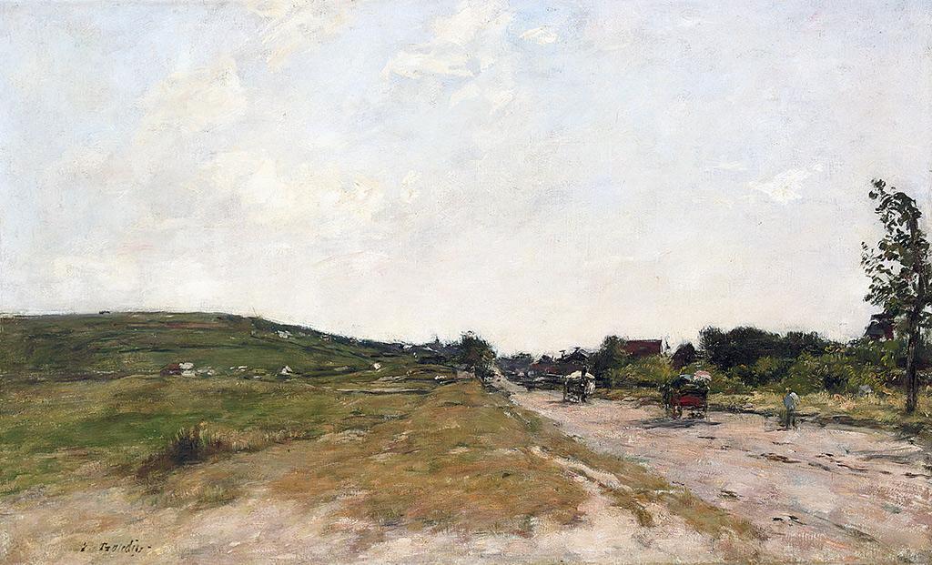 1888 - Eugene Louis Boudin - The Road of Villers-sur-Mer