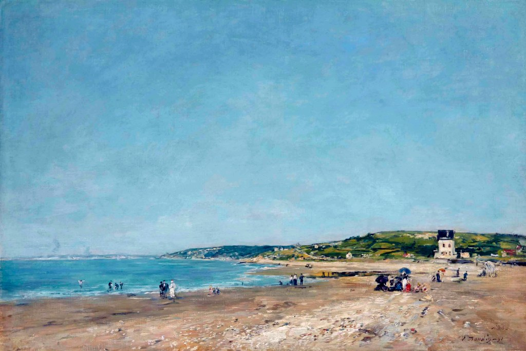 1891 - Eugene Louis Boudin - The Beach of Villers