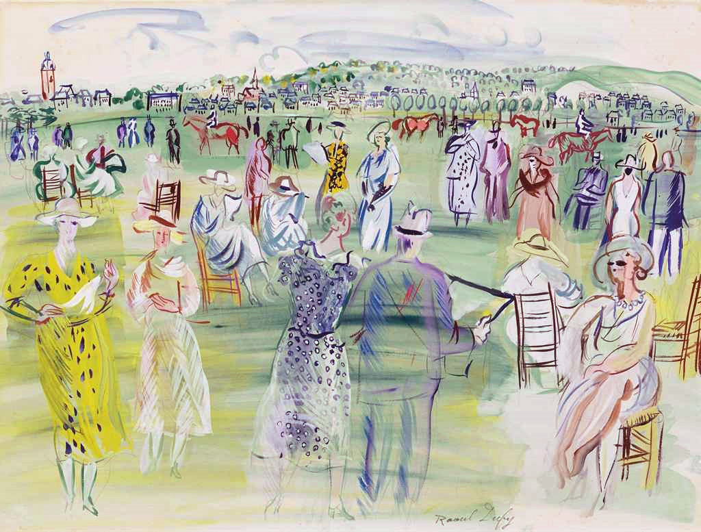 1941 Jean Dufy - Poiret's models in Deauville