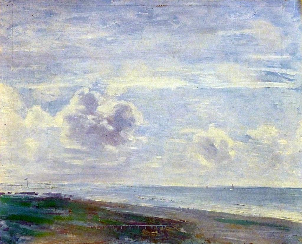 1894 - Paul Cesar Helleu - The Beach at Deauville