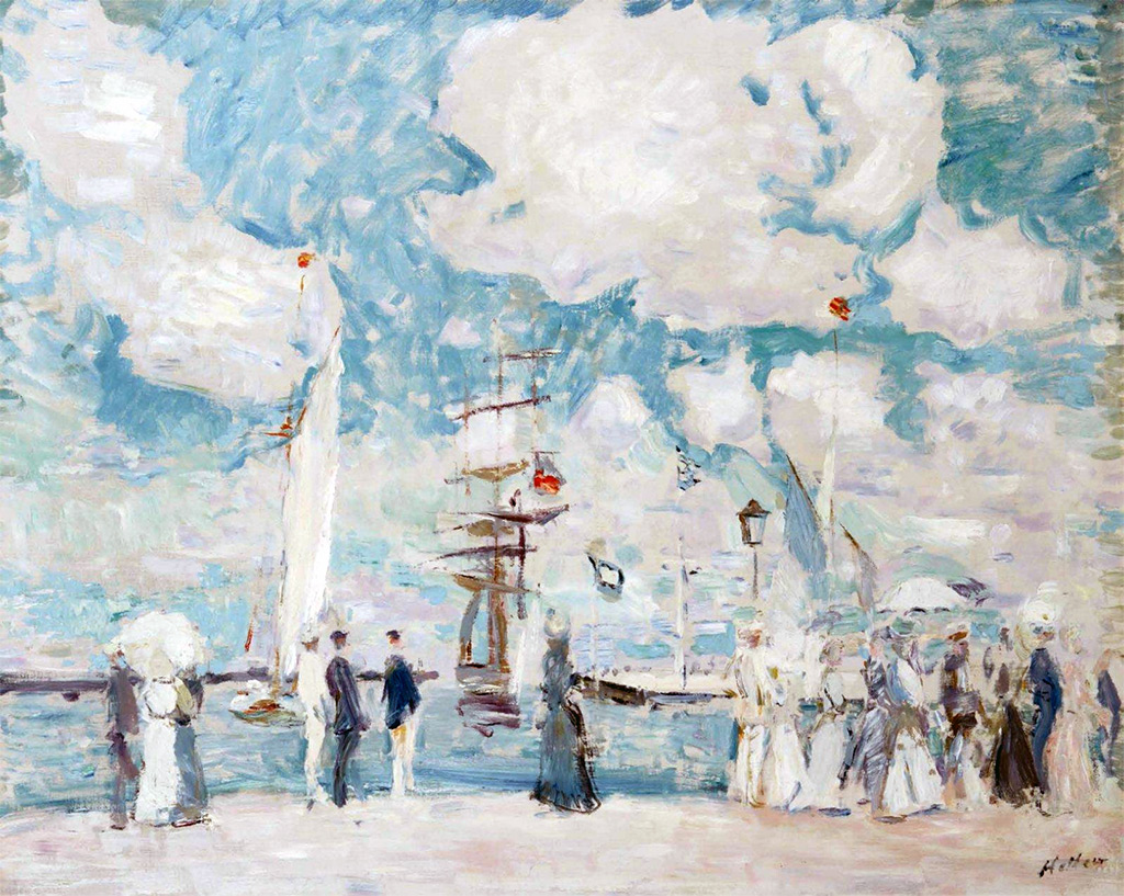 ???? - Paul Cesar Helleu - The Entry to the Deauville basin
