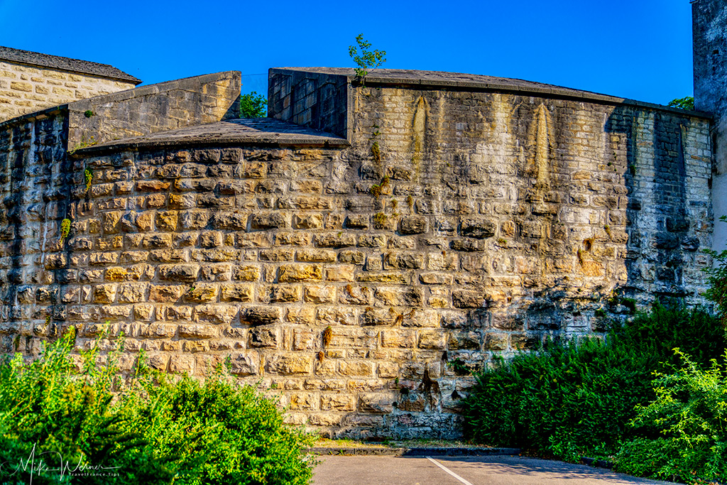 Part of the city fortified walls