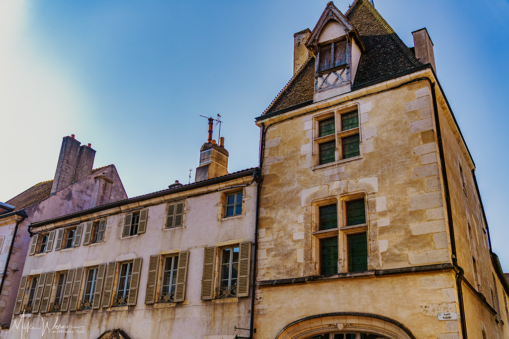 Facade of old building in Beaune