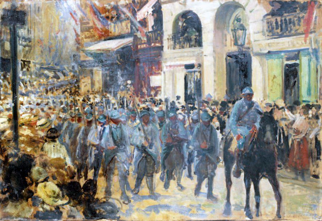 1914 - Jacques-Emile Blanche - Parade of the 'Poilu', Dieppe