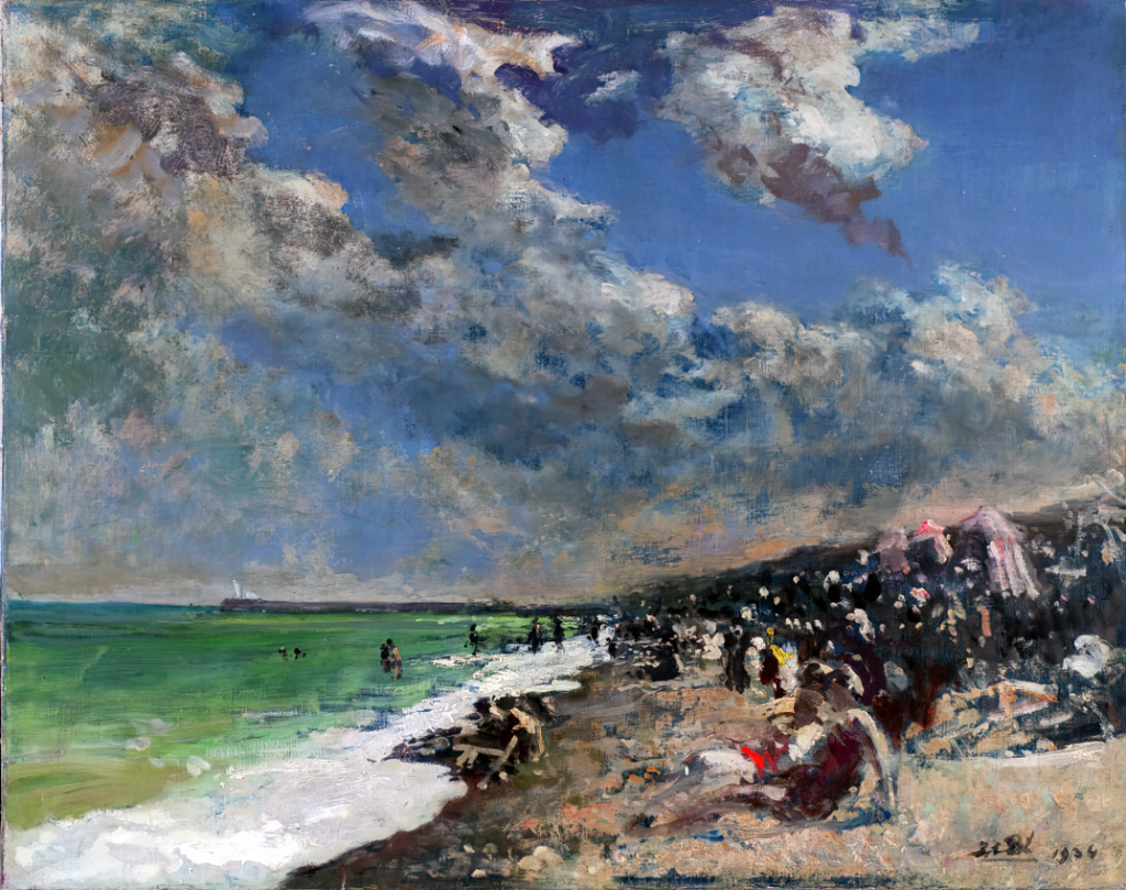 1934 - Jacques-Emile Blanche - Storm clouds over the beach of Dieppe