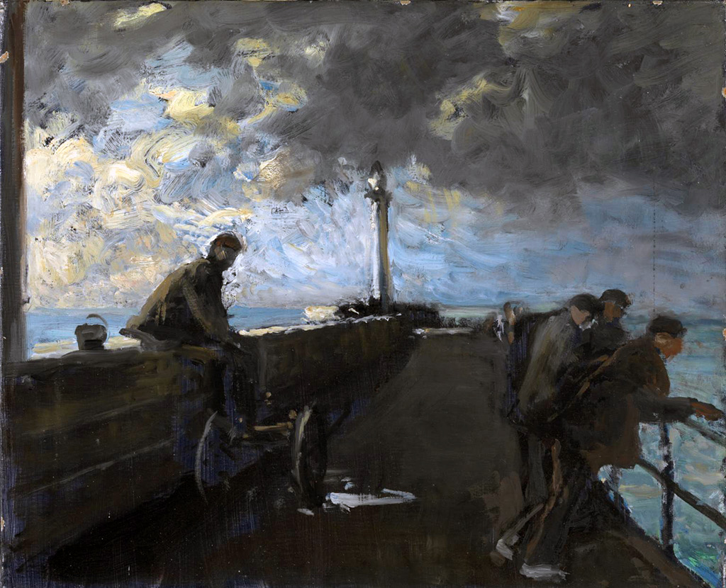 1938 - Jacques-Emile Blanche - On the Pier at Dieppe