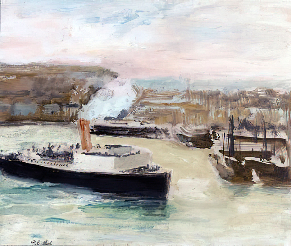 ???? - Jacques-Emile Blanche - Arrival of the Liner, Dieppe