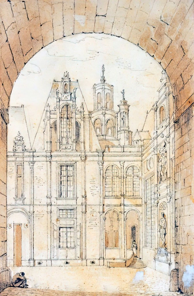????- Dauzats - Former City Hall of Caen