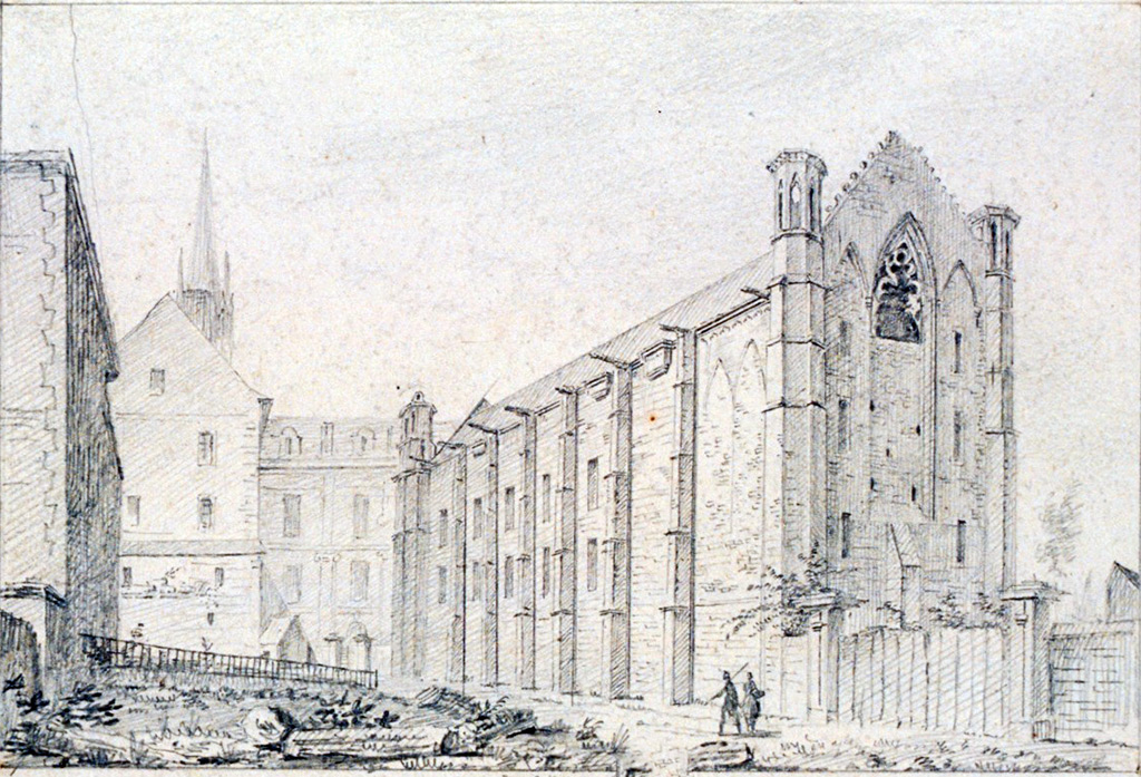 1822 - de Jolimont - At Caen. View of the Hall of States of the Saint Etienne abbey