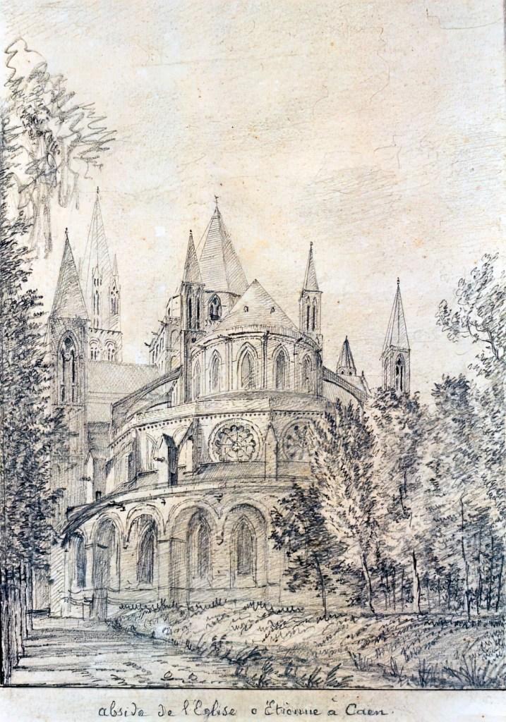 ???? - de Jolimont - Apse of the Church of St Etienne in Caen